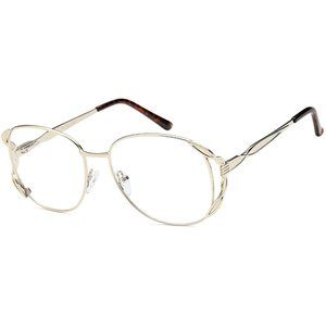 Peachtree Round Style Gold Frame